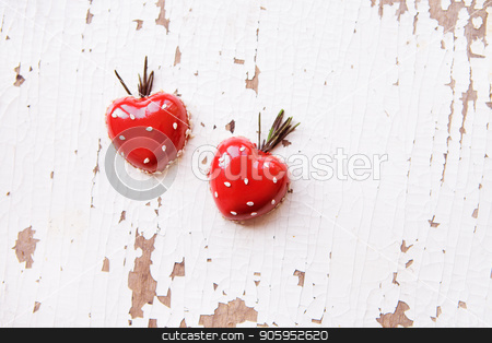 Beautiful and tasty dessert in the form of heart on an old wooden background, close-up stock photo, Beautiful and tasty dessert in the form of heart on an old wooden background, close-up. by Sergiy Artsaba