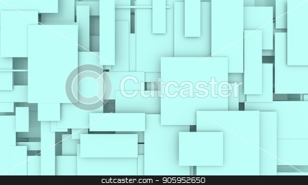 Illustration of moving rectangles. stock photo, Illustration of moving blue rectangles abstract background by T-flex