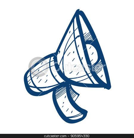 Speaker icon. Design elements in hand drawn style stock vector clipart, Speaker icon. Design elements in hand drawn style. by Filipp Efanov