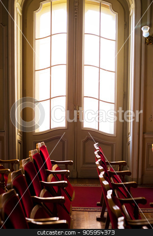 Ancient rooms in the house scientists. House of Scientists in Lviv stock photo, Ancient rooms in the house scientists. House of Scientists in Lviv. by Sergiy Artsaba