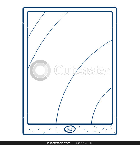 The tablet icon. Design elements in hand drawn style stock vector clipart, The tablet icon. Design elements in hand drawn style. by Filipp Efanov