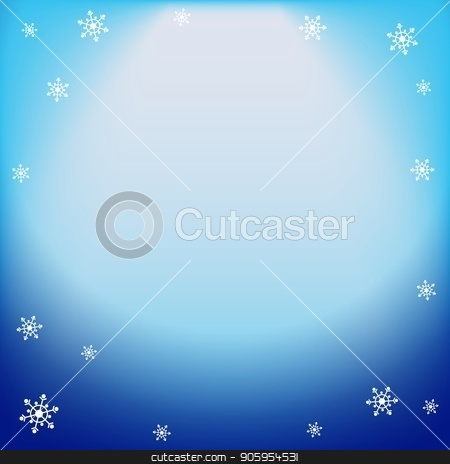 Winter vector blue light effect, projector ray with shining halo and snowflakes stock vector clipart, Winter vector blue light effect, projector ray with shining halo and snowflakes. Falling magical spotlight for design of Christmas or New Year congratulations, offers, banners, invitations and by Heliburcka