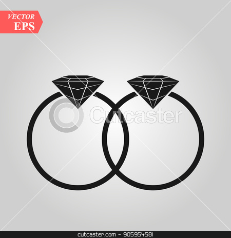 rings vector icon, flat design best vector icon stock vector clipart, rings vector icon, flat design best vector icon eps10 by elnurbabayev
