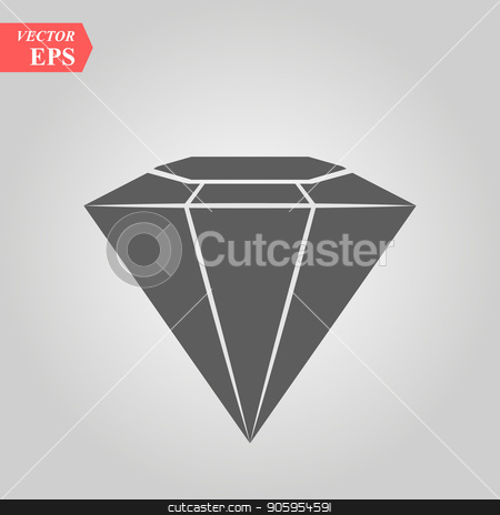 Diamond vector icon, flat design best vector icon stock vector clipart, Diamond vector icon, flat design best vector icon eps10 by elnurbabayev