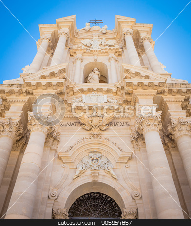 Duomo di Siracusa (Syracuse Cathedral) stock photo, Detail of the baroque Cathedral of Syracuse, Italy, located in the Ortigia area. by Paolo Gallo