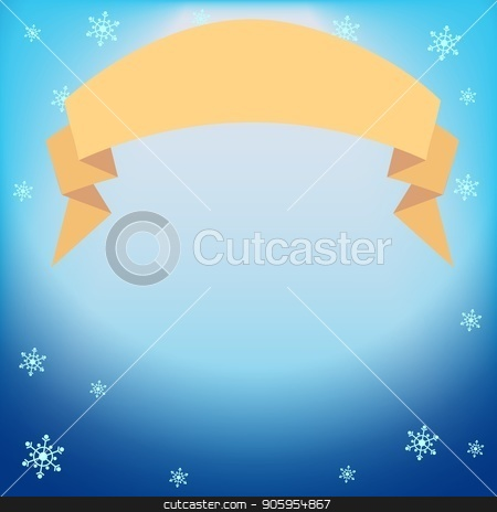 Winter vector blue light effect, projector ray with shining halo, ribbon and snowflakes stock vector clipart, Winter vector blue light effect, projector ray with shining halo, ribbon with place for your text and snowflakes. Falling magical spotlight for design of Christmas or New Year congratulations, offers by Heliburcka