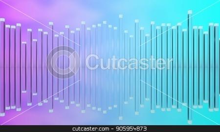 Illustration of glass poles equalizer. stock photo, Illustration of glass poles equalizer. by T-flex