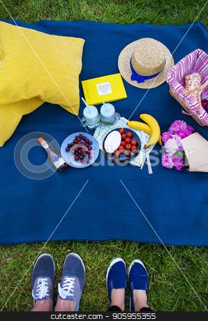 Bright summer picnic stock photo, Bright picnic in nature - beautiful and bright food by Sergiy Artsaba
