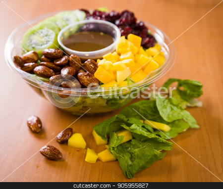 Close up shot of a healthy green salad stock photo, Close up shot of a healthy organic green salad by Shane Maritch