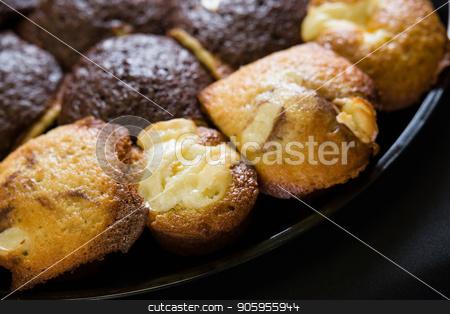 Close up shot of fresh bran muffin stock photo, Close up shot of fresh bran muffin ready to be eaten by Shane Maritch