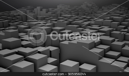 3D render Digital background of the many grey squares stock photo, 3D render Digital background of the many grey squares 4k by bigcity31
