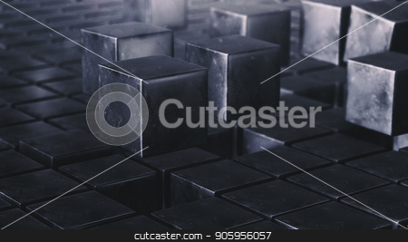 3D rendering Loop Grunge cube animation field stock photo, 3D rendering Loop Grunge cube vj field watch 4k by bigcity31