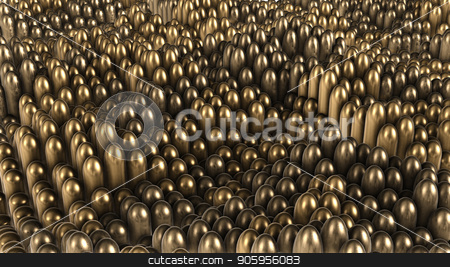 3D render background of gold rounded cylinders stock photo, 3D render background of gold rounded cylinders 4k by bigcity31