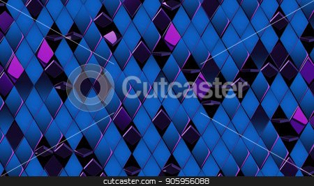3D render background of purple blue shiny rombus stock photo, 3D render background of purple blue shiny rombus 4k by bigcity31