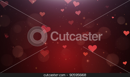 Romantic background of Red hearts stock photo, Romantic background of Red hearts watch 4k by bigcity31