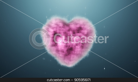A cloud in the shape of a heart on a turquoise background stock photo, A cloud in the shape of a heart on a turquoise background 4k by bigcity31