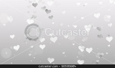 Gray Hearts on white background stock photo, Gray Hearts on white background watch 4k by bigcity31