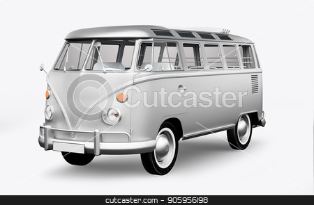 3D render hippie bus on white background stock photo, 3D render hippie bus on white background 4k by bigcity31