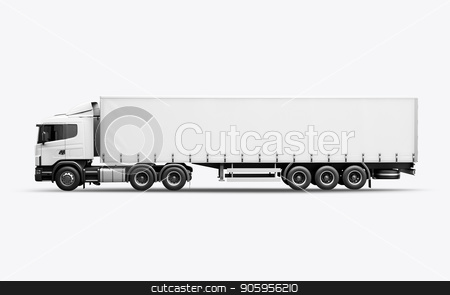 3D render of the truck for mock-up on a white background stock photo, 3D render of the truck for mock-up on a white background 4k by bigcity31