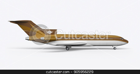 Passenger plane BOEING 727 3D render on a white background stock photo, Passenger plane BOEING 727 3D render on a white background 4k by bigcity31