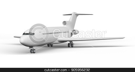 Passenger plane BOEING 727 3D render on a white background stock photo, Passenger plane BOEING 727 3D render on a white background 4k by bigcity31