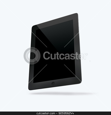 3D render of the tablet on a white background stock photo, 3D render of the tablet on a white background 2K by bigcity31