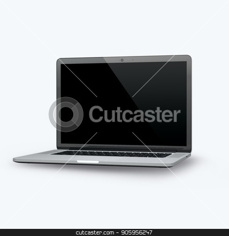 3D render of a laptop on a white background stock photo, 3D render of a laptop on a white background 2k by bigcity31