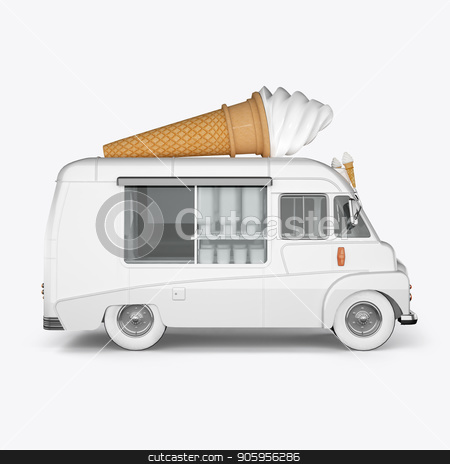 3D render machines for ice cream on a white background stock photo, 3D render machines for ice cream on a white background 4k by bigcity31