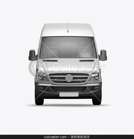 3D render van on a white background stock photo, 3D render van on a white background 4k by bigcity31