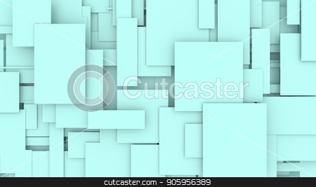 Illustration of moving rectangles 3D illustration stock photo, Illustration of moving blue rectangles abstract background by T-flex