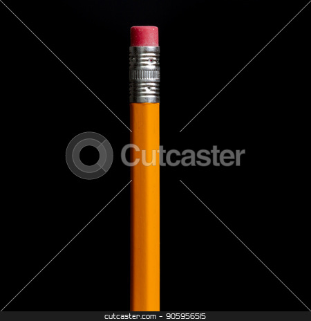 This is my pencil stock photo, Single pencil against a black background by txking