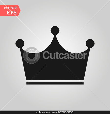 Crown Icon in trendy flat style isolated on grey background. Crown symbol for your web site design, logo, app, UI. Vector illustration, EPS10. stock vector clipart, Crown Icon in trendy flat style isolated on grey background. Crown symbol for your web site design, logo, app, UI. Vector illustration, EPS 10. by elnurbabayev