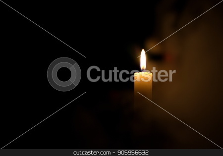 Candle in the dark. Candle in the dark in dimu stock photo, Candle in the dark. Candle in the fog. Candle in the dark in dimu by Oleksii Tim