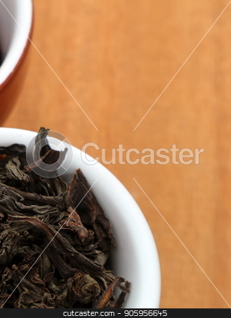 Raw coffee and tea. Dry coffee and tea in a cup. stock photo, Raw coffee and tea. Dry coffee and tea in a cup. by Oleksii Tim