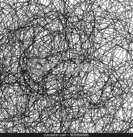 Black Strokes. Ink Careless Sketch. stock vector clipart, Black  Strokes on White Background. Ink Careless Sketch. by valeo5