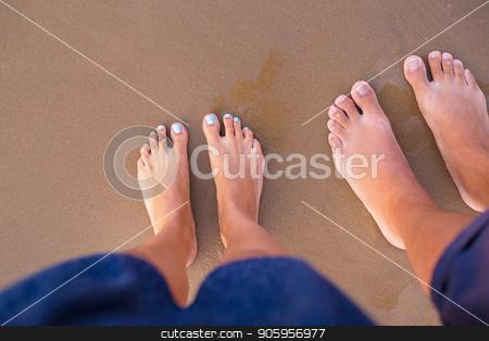 Feet of two lovers on sand-summer, sun, sea, beach. stock photo, Feet of two lovers on sand-summer, sun, sea, beach by Sergiy Artsaba