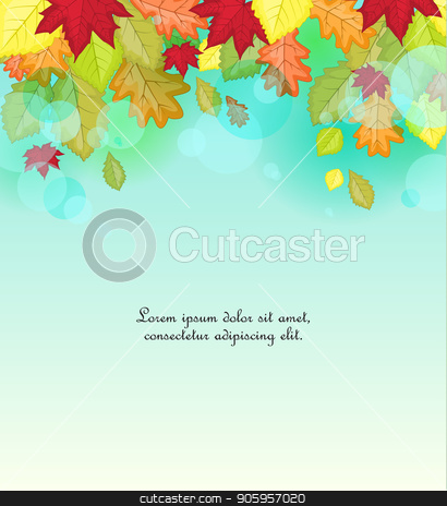 Autumn leaf in colors stock vector clipart, Vector illustration of autumn leaf in colors. Background of natural leaves by Miroslava Hlavacova