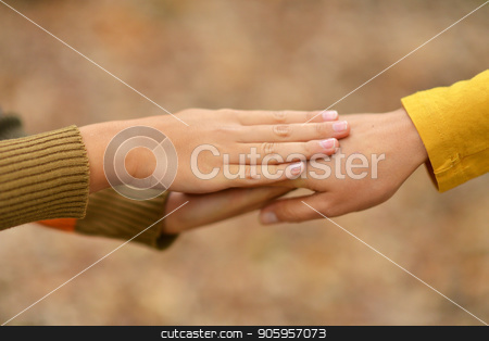 two people  holding at the nature stock photo, two people holding at the nature close-up by Ruslan Huzau