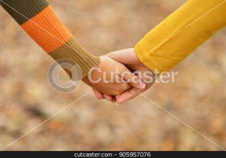 two people  holding