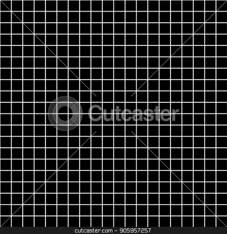 Five millimeters square white grid on black, blueprint pattern stock vector clipart, Five millimeters square white grid on black, blueprint seamless pattern by Evgeny