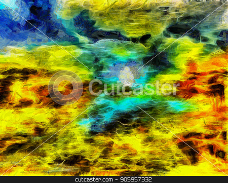 Colorful Abstract Painting stock photo, Colorful Abstract Painting. Oil on Canvas by Bruce Rolff