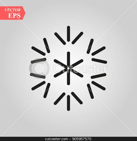 snowflake icon, vector snowflake sign, isolated snowflake symbol stock vector clipart, snowflake icon, vector snowflake sign, isolated snowflake symbol eps 10 by elnurbabayev