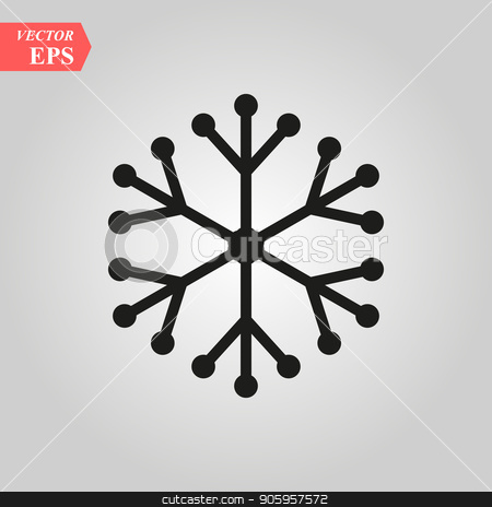 Digital black isolated circle logo template. Stylized abstract snowflake, flower or sun vector illustration. Polka dots round sign stock vector clipart, Digital black isolated circle logo template. Stylized abstract snowflake, flower or sun vector illustration. Polka dots round sign eps 10 by elnurbabayev