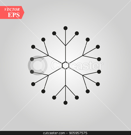 snowflake icon, vector snowflake sign, isolated snowflake symbol. Molecular structure in the form of snowflake, stock vector clipart, snowflake icon, vector snowflake sign, isolated snowflake symbol. Molecular structure in the form of snowflake, eps10 by elnurbabayev