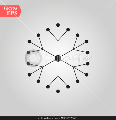 Merry Christmas Greetings Card Design with Snow Flakes stock vector clipart, Merry Christmas Greetings Card Design with Snow Flakes eps 10 by elnurbabayev