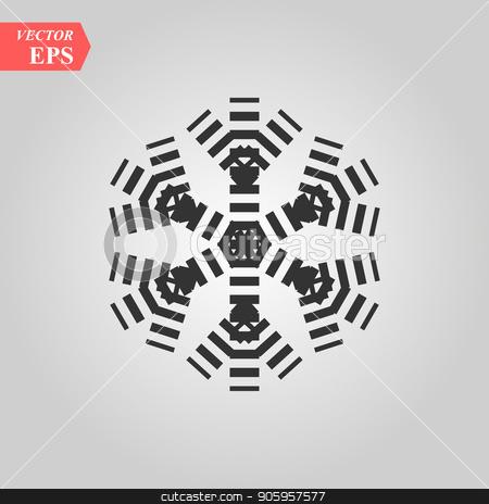 snow flake line web icon on white background stock vector clipart, snow flake line web icon on white background eps 10 by elnurbabayev
