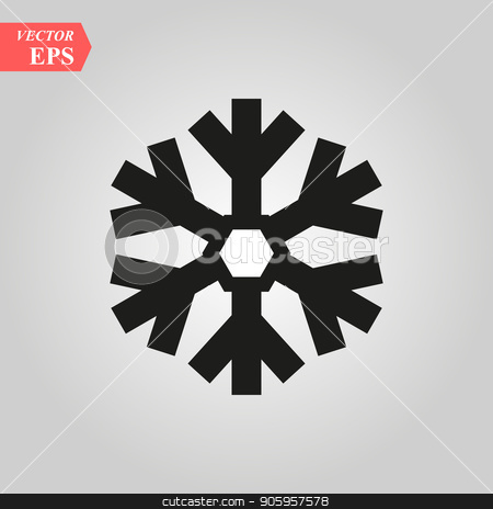 Snowflake icon vector EPS 10, abstract sign flat design, illustration modern isolated badge for website or app - stock info graphics stock vector clipart, Snowflake icon vector EPS10, abstract sign flat design, illustration modern isolated badge for website or app - stock info graphics by elnurbabayev