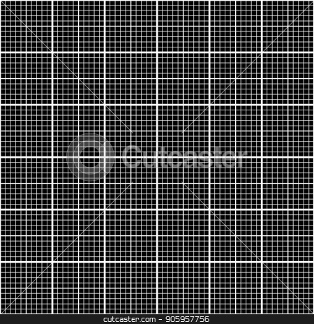 White graph grid on black pattern stock vector clipart, White graph grid on black, seamless pattern by Evgeny