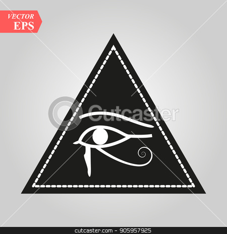 All seeing eye, magical element, eye, triangle, tattoo design vector illustration eps 10 stock vector clipart, All seeing eye, magical element, eye, triangle, tattoo design vector illustration eps10 by elnurbabayev