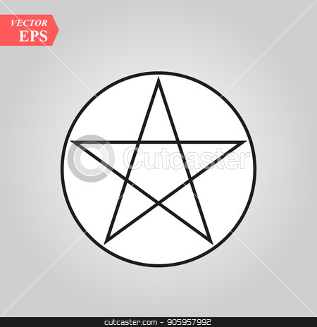 Wicca Pentagram sign icon. Element of religion sign icon for mobile concept and web apps. eps10 stock vector clipart, Wicca Pentagram sign icon. Element of religion sign icon for mobile concept and web apps. eps 10 by elnurbabayev